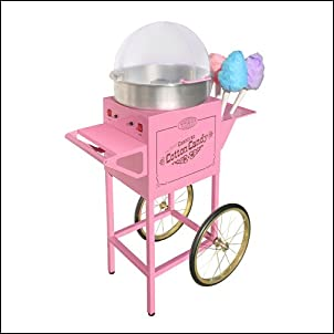 Nostalgia Electrics CCM600 Vintage Collection Old Fashioned Cotton Candy Cart