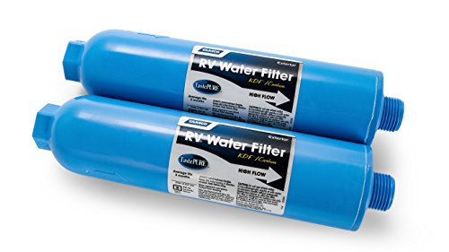 Camco TastePURE Inline Water Filter, Greatly Reduces Bad Taste, Odors, Chlorine and Sediment in Drinking Water (2 Pack) (40045) ()