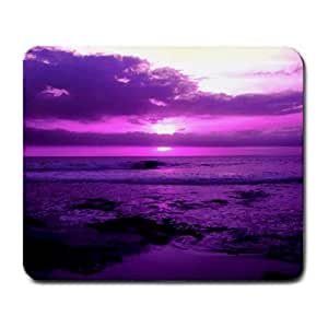 Purple Beach Sunset Sunrise Mouse Pad