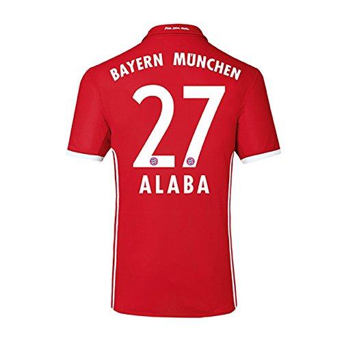 植物学者積分縞模様の2016-17 Bayern Home Shirt (Alaba 27)