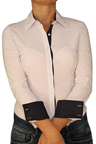 Unbekannt - Camisas - Básico - Clásico - Manga Larga - para mujer blanco