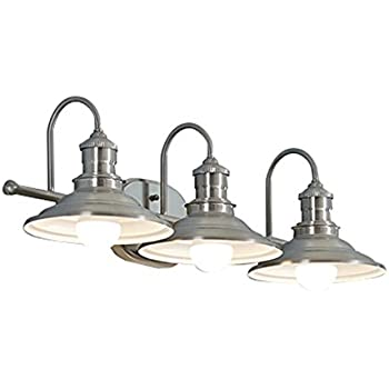 Hainsbrook 3-Light Antique Pewter Cone Vanity Light - - Amazon.com