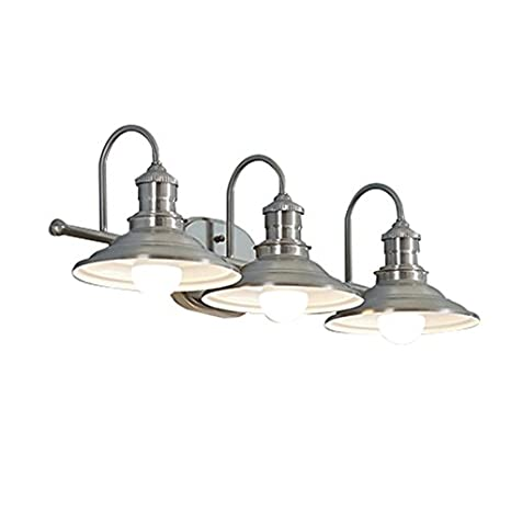 Hainsbrook 3-Light Antique Pewter Cone Vanity Light - Hainsbrook 3-Light Antique Pewter Cone Vanity Light - - Amazon.com