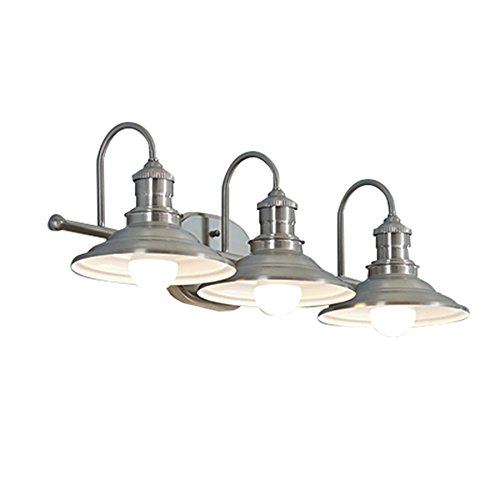 Hainsbrook 3-Light Antique Pewter Cone Vanity Light (Light Vanity Barn)