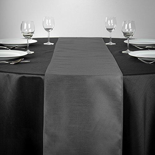 LinenTablecloth Shantung Silk Table Runner, 14 x 108, -