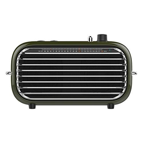 Vintage Bluetooth Speaker, LOFREE Poison Retro Speaker with FM Radio/20W Audio Output/Powerful Bass Enhancement, Wireless Speaker for Travel,Party and Pool (Best Vintage Speaker Brands)