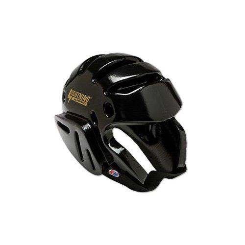 ProForce Lightning Sparring Headgear - Black - Medium - Guard Ear Headgear Foam