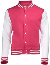 Amazon.com: Pink - Varsity Jackets / Lightweight Jackets: Clothing ...