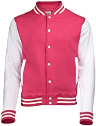 Amazon.com: Pink - Varsity Jackets / Lightweight Jackets: Clothing