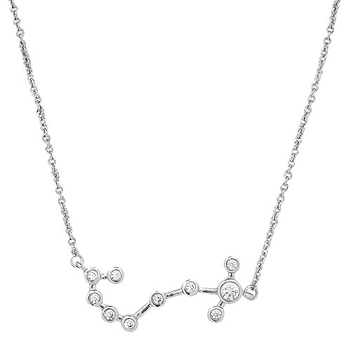 Sterling Forever Scorpio Constellation Necklace - ?When Stars Align' Constellation Necklace, Silver Plated, Women?s Zodiac Necklace ()