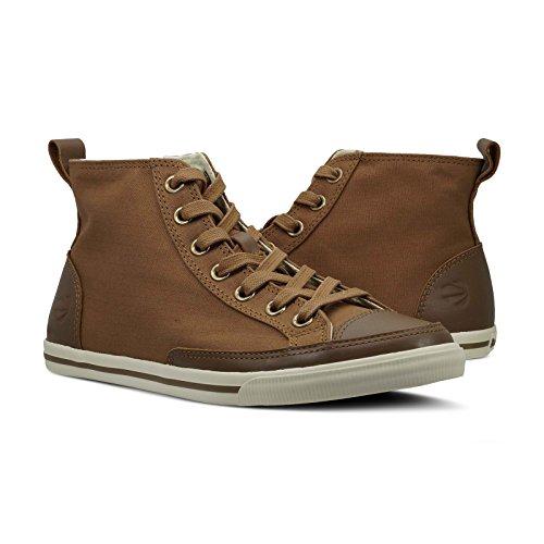 a1e0eff807ef9 Burnetie Men's Light Brown Solid Plaid High Top Vintage Sneaker