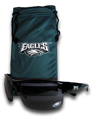 Philadelphia Eagles Half Frame Polarized Sunglasses with - Sunglasses Accessories California