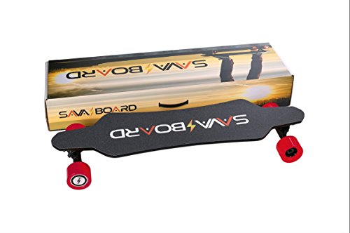 SAVA✔️BOARD i5C Electric Skateboard Carbon Fiber DUAL 1400W Samsung Battery 18-20MPH With a Range 10-12 miles Samsung Battery | USB Charger | Remote Controller (Red)