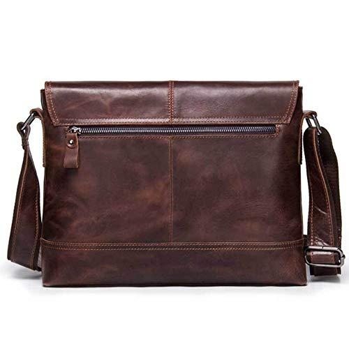 Diagonal Bolso Para Hombre Brown Cuero Bandolera Vintage De Loco qwZtwB