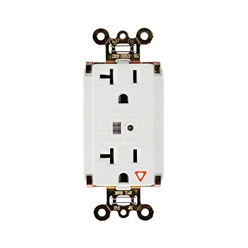 Pass & Seymour IG5362-WSP Isolated Ground Surge Protective Duplex Receptacle 20A 125V TVSS, White