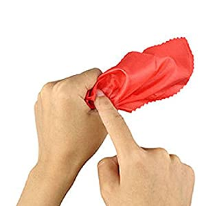 Dutch Brook 5 pcs Magician Magic Tricks Red Scarves Disappear in Finger Set