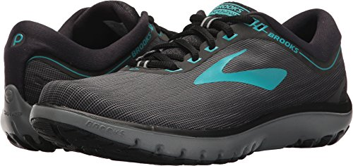 Brooks Women's PureFlow 7 Grey/Black/Green 8.5 B US
