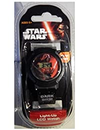 Star Wars Kids Dark Side Digital Display Light-Up LCD BLACK Watch by Disney