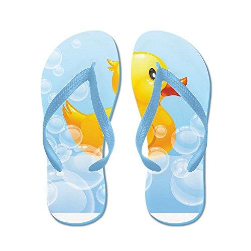 Cafepress Duck In Bubbels - Flip Flops, Grappige String Sandalen, Strand Sandalen Caribbean Blue