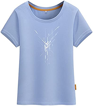 xing xiao Camisetas para Mujer Manga Corta Camiseta Sra ...
