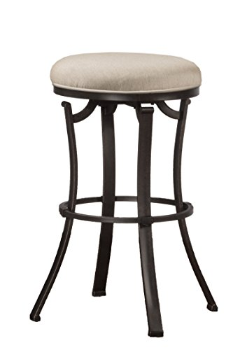 Hillsdale Furniture 6301-826 Indoor/Outdoor Bryce Backless Swivel Counter Stool, Height, Black (Fabric Hillsdale Chair)