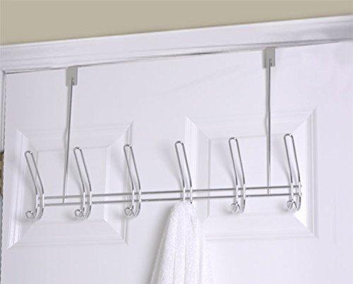 Home Basics 6-Hook Over The Door Hanger, Chrome