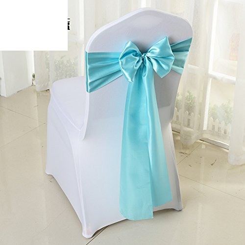 Wedding chair back cover/decorative streamers/bow ribbon-A by WXTFQB