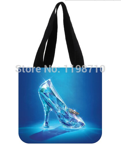 Hot Sale Reusable Shopping Bags Cinderella Lost Shoe Painting Tote bags - Cinderellas Lost Shoe
