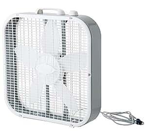 """Lasko 3733 20"""" Fan Box, Gray/White"""
