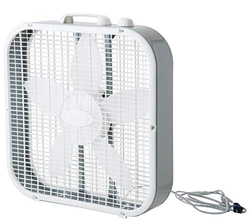 "Lasko 3733 20"" Fan Box, Gray/White"