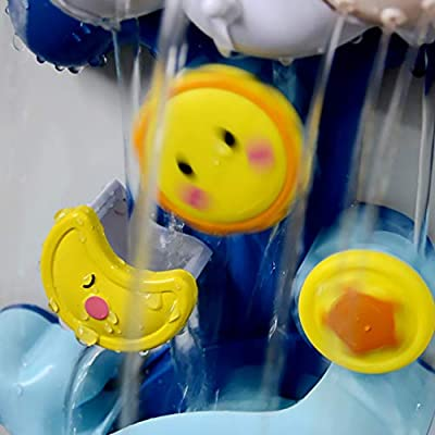 TOYANDONA Baby Bath Toy Bathtub Spout Toy Whale Shaped Water Shower Watering Sprayer Water Playing Toy Bathtime Toys for Toldder (Blue): Toys & Games