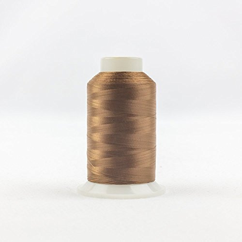 2500 Chocolate - WonderFil InvisaFil Specialty Thread, 2-Ply Cottonized Soft Polyester, Silk-Like Thread for Fine Sewing, 100wt - Chocolate, 2500m