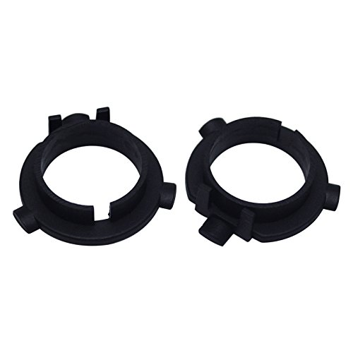 FEELDO 2PCS Car LED Headlight Bulbs Holder H7 Socket Adapter Base for KIA K3/K4/K5/Sorento Hyundai Veloster/Snata Fe
