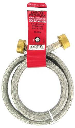 LASCO 16-1804 3/4-Inch FHT by FHT by 4-Feet Washing Machine Hose Connector
