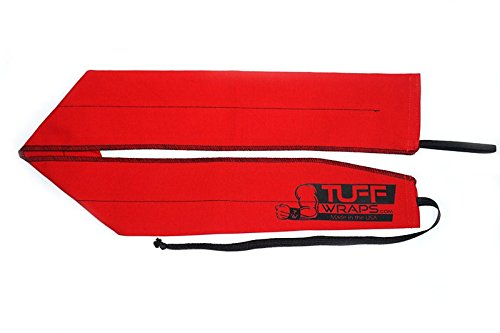 Tuffwraps: Wraps for Crossfit, Olympic Weightlifting, Power Lifting. Innovative Thumb Loop for Easy Application. (Red TUFF)