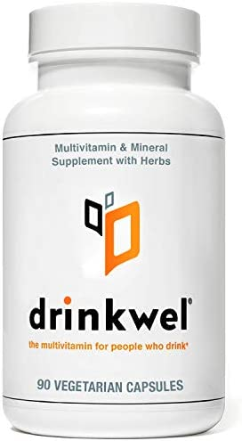 Drinkwel Premium Hangover Multivitamin Supplement – 90 Capsule – Morning Recovery, Liver Cleanse, Detox, Immune Support- Milk Thistle, N-Acetyl Cysteine NAC , Vitamin C, Zinc, Magnesium