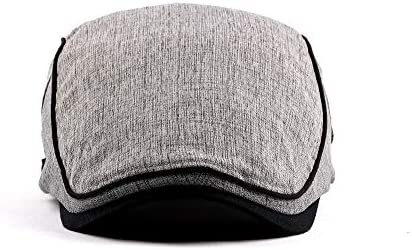 CAIYAN ユニセックスコットンアジャスタブルフラットキャップアイビーダックビルキャスケットギャツビー通気性の英国スタイルアイルランドの帽子ハンチングキャップ (色 : 5, サイズ : フリーサイズ)