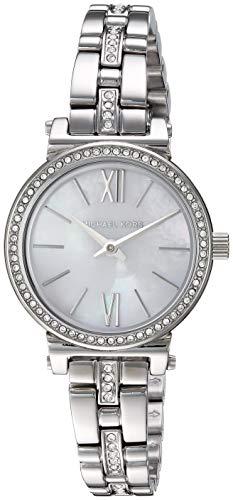 (Michael Kors Women's Sofie Quartz Stainless-Steel Strap, Silver, 9.5 Casual Watch (Model: MK3906))