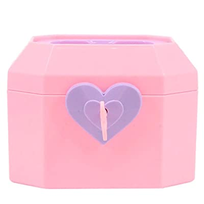 Jewelry Box Mini Heart Decor Doll Accessory Storage Box with Key for 18in Doll: Kitchen & Dining