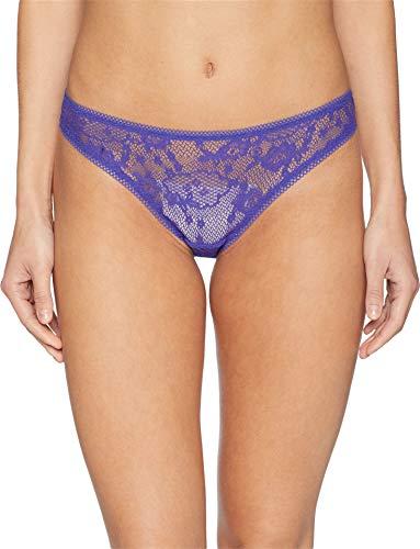 Bikini Hip Mesh (OnGossamer Women's Racy Lace Hip Bikini Panty, Lapis, M)