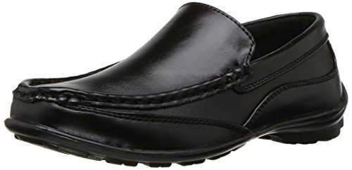 Deer Stags Boys' Booster Loafer, Black, 7 Medium US Big Kid -
