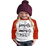 EKIMI Toddler Baby Kids Girls Clothes Letter Print Long Sleeve T-shirt Blouse Tops (2T) offers