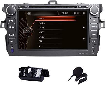 - Car Stereo Toyota Corolla 2007-2013 Double Din in Dash Head Unit Car GPS Navigation MAP AM FM Radio DVD CD Player Bluetooth USB SD 3G DVR CAM-in