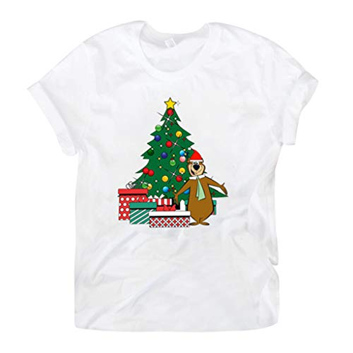 ITLOTL Christmas T-Shirt Women O-Neck Long Sleeve Letter Printing Casual Blouse Tops