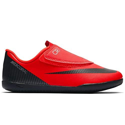 official photos df423 dacd0 Nike JR Mercurial Vapor 12 Club PS (V) CR7 IC Soccer Shoes (Bright Crimson)  (12C)