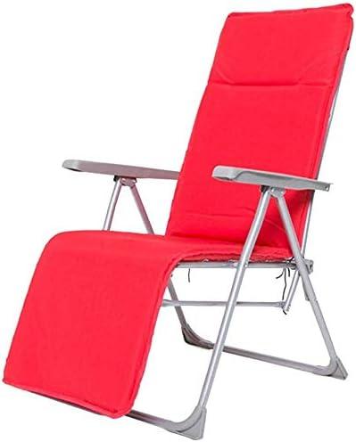 NO BRAND Tumbonas Jardin Plegables sillones Acolchados, sillas de Ocio Ajustable Multi-posición de la luz Tumbona terraza Silla de jardín, terraza y el Interior, de Color Rojo: Amazon.es: Jardín