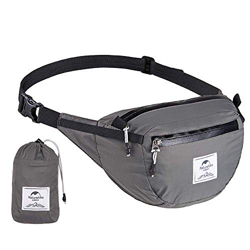 - Free walker Gray Ultralight Waterproof Waist Bag Packable Funny Pack Compact Sport Chest Pack Messenger Bag with Storage Pouch