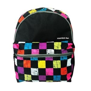 MIGGO STYLE ESSENTIAL Small Backpack, Polyester, Multicolor Chess Pattern, Fits up to 13-inch Laptop