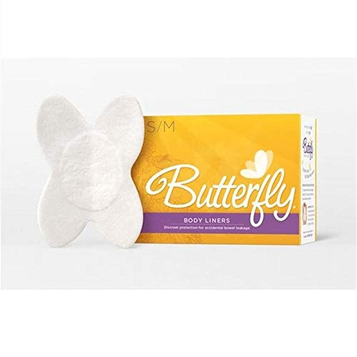 Butterfly Pads/Body Liners for Bowel Leaks - Women's S/M 28 Count