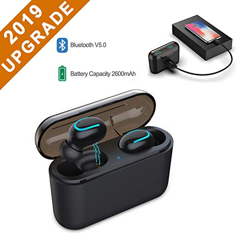 Wireless Earbuds Bluetooth 5.0 Headphone TWS【True Wireless Stereo】 IPX5 Waterproof in-Ear Earphones 90H Playtime Noise Canceling Bass Stereo Mini Bluetooth Headset Built in Mic with Charging Dock
